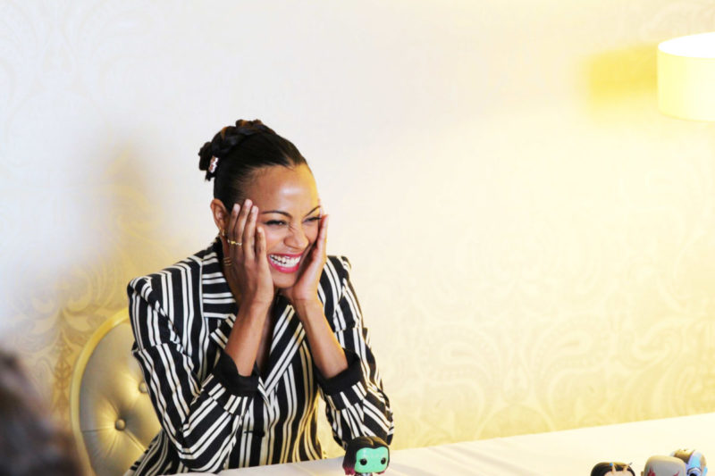 """Let's talk about Gamora & Star-Lord! Zoe dishes everything we want to know about the """"couple"""" in this Guardians of the Galaxy Vol. 2 Zoe Saldana Interview."""
