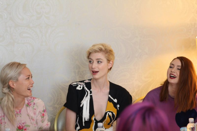 We talked makeup, strong storylines, & being part of the Marvel family with the women of Guardians of the Galaxy Vol. 2. We interviewed Karen Gillan. Pom Klementieff, and Elizabeth Debicki at this incredible event.
