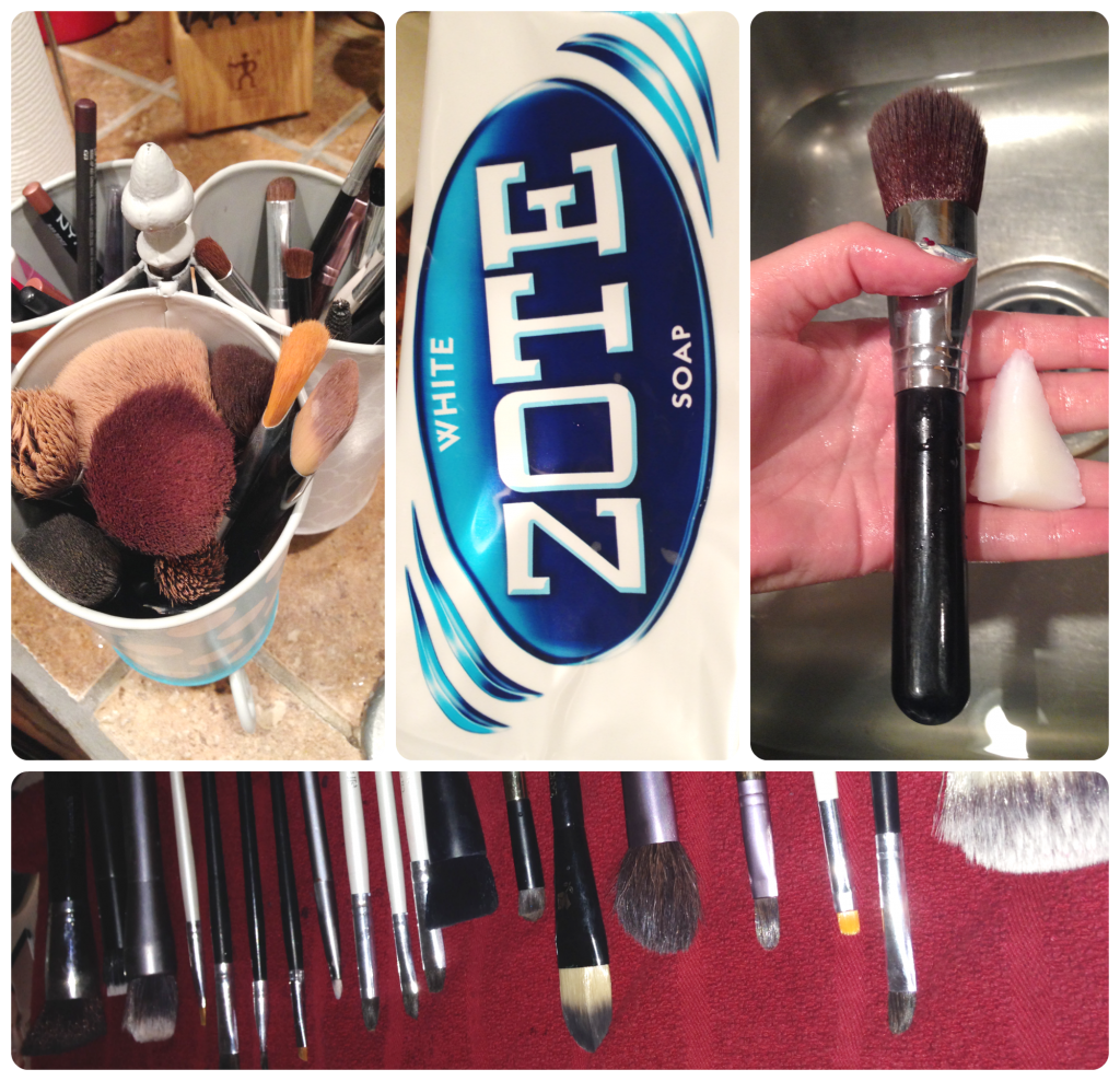 Washing Makeup Brushes