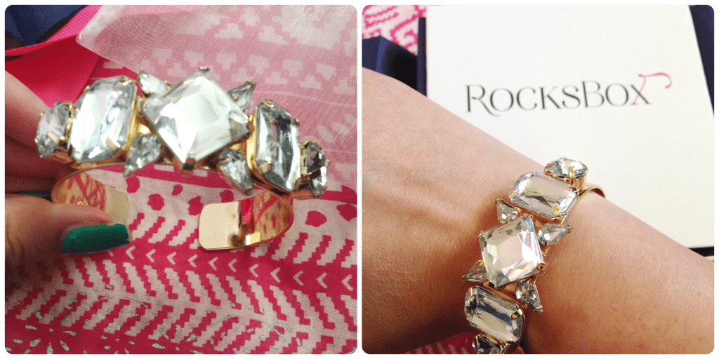 Rocks Box ILY Couture Clear Luxe Cuff Bracelet