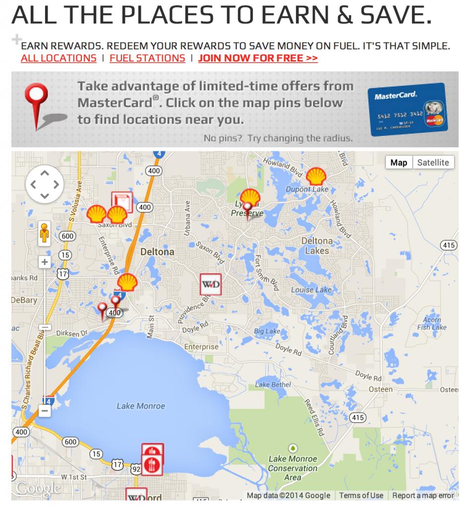 Shell Fuel Rewards Map