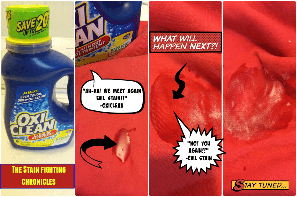 OxiClean Stain Fighting Comic Strip