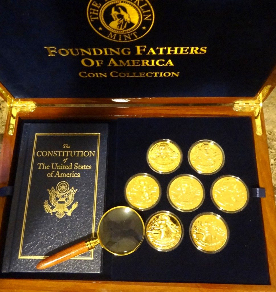 Franklin Mint Founding Fathers of America Coin Collection