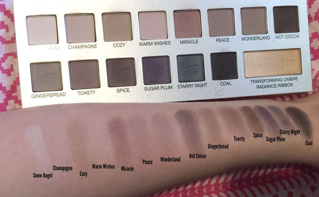 It Cosmetics Naturally Pretty Celebration Eyeshadow Palette Swatches