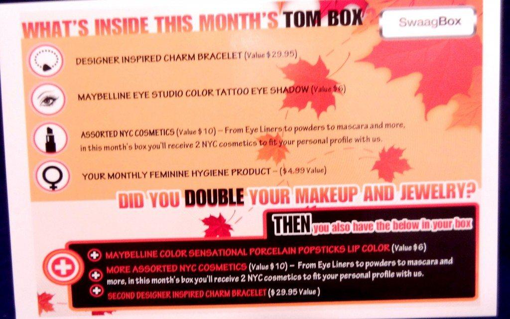November Swaag Box Card