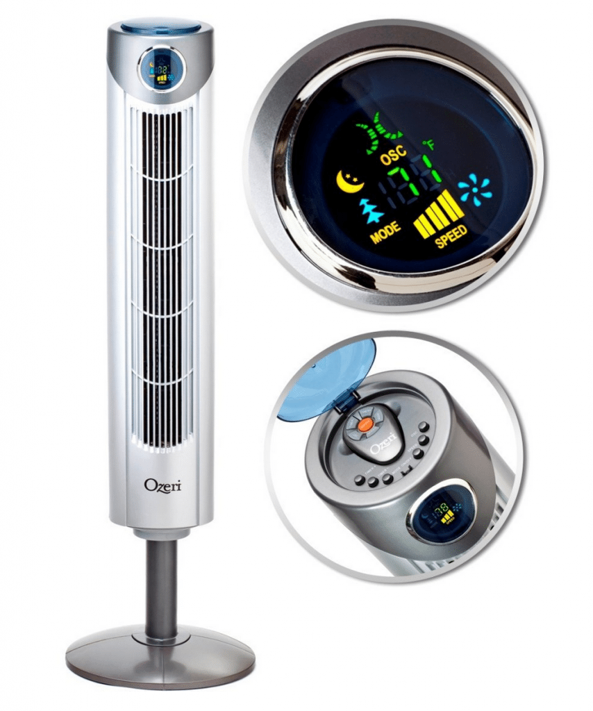 - Adjustable Oscillating Tower Fan with Noise Reduction Technology