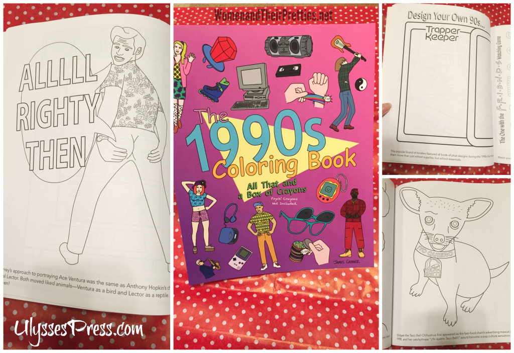 Find the 1990s Coloring Book on ulyssespress.com and reviewed on womenandtheirpretties.net