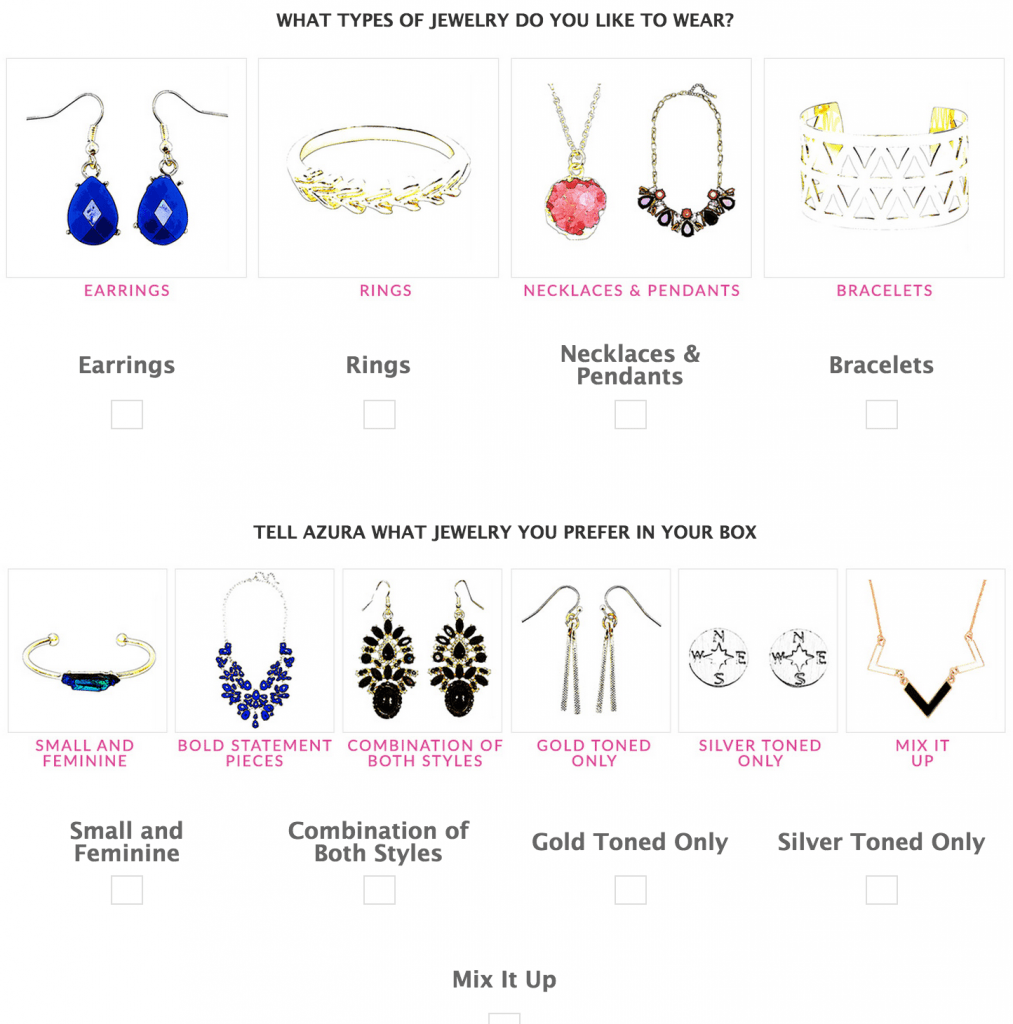The Azura Box Jewelry Subscription  Style Survey