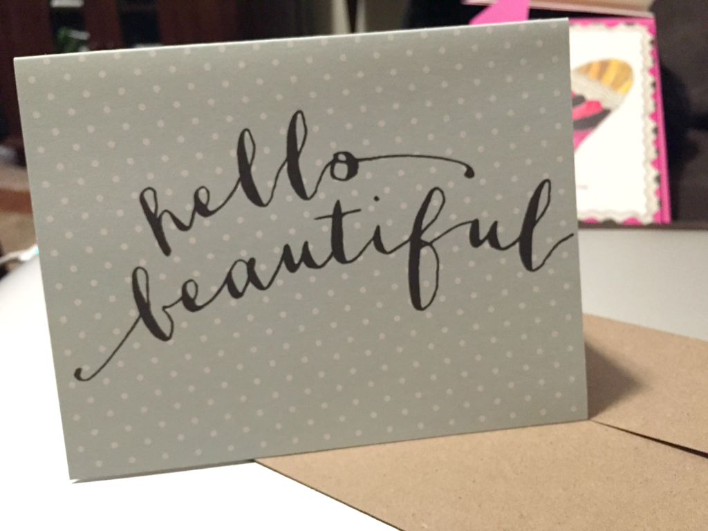Estilo Hello Beautiful Greeting Card