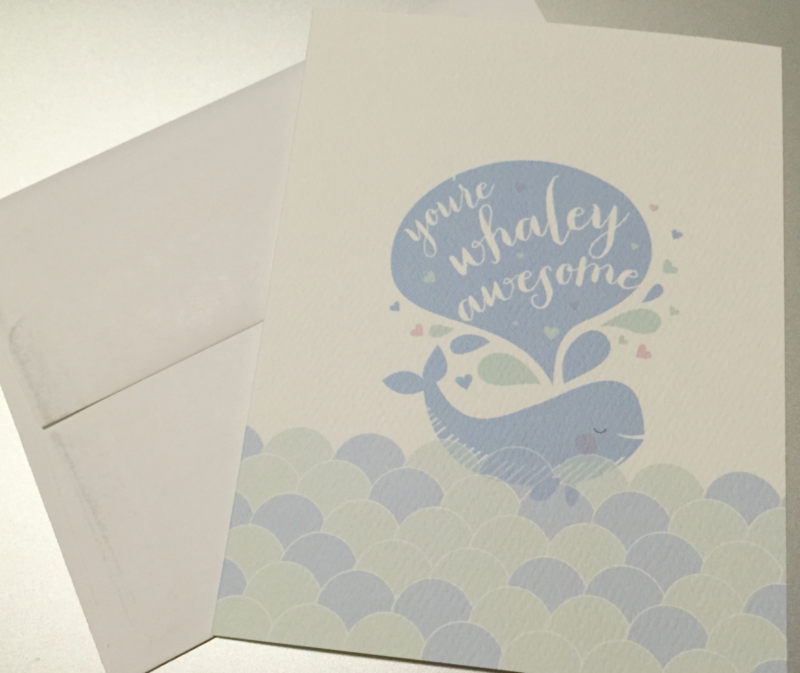 Pennie Post You're Whaley Awesome Greeting Card