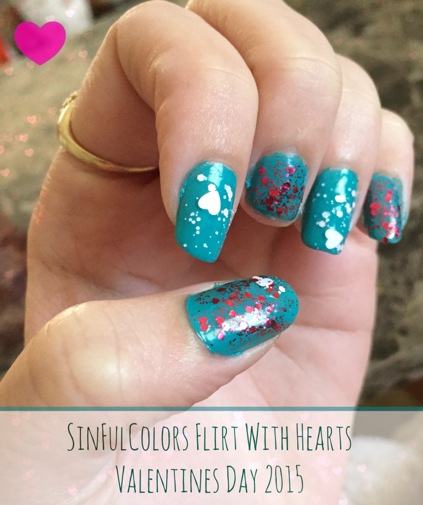 SinfulColors Flirt With Hearts Valentines Day Nails