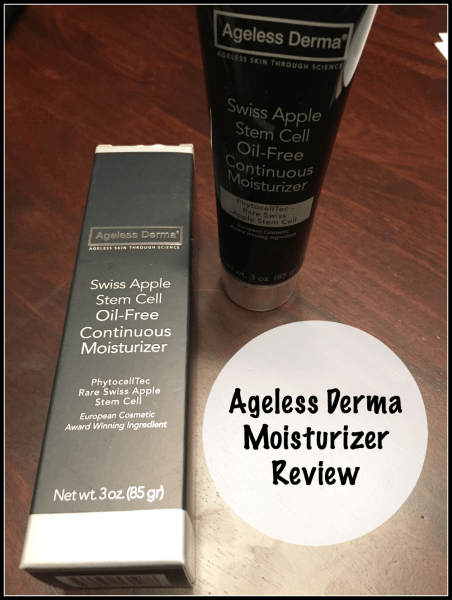 Ageless Derma Moisturizer Review