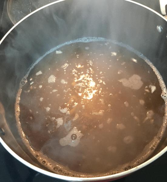Boiling Broth for Crispy Lemongrass