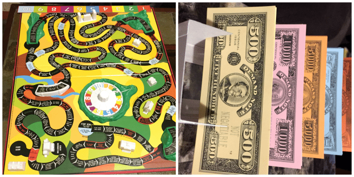 Classic Game of Life Money and Board