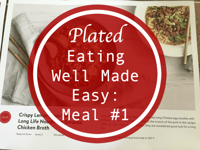 Crispy Lemongrass Pork and Long Life Noodles in Sriracha Chicken Broth and Recipe Card