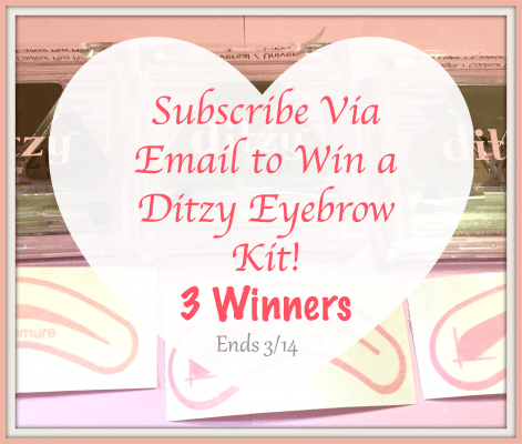 Ditzy Comsetics Eyebrow Stencils Giveaway