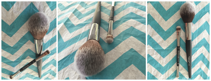 Heavenly Luxe Radiance Wand Brush and No-Tug Dual Airbrush Eyeshadow Brush
