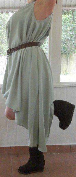 Mint Floaty Dress Side View