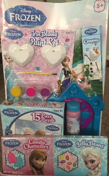 Pick up a Disney Frozen Easter Basket Contents at Toys R Us