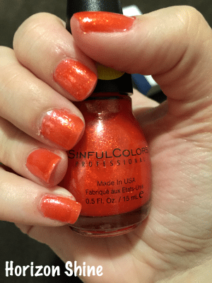 SinfulColor Spring 2015 Collection Horizon Shine