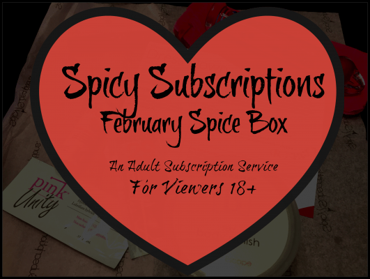 Spicy Subscriptions February Spice Box- An Adult Subscription Service