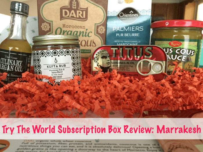 Try The World Subscription Box Review Marrakesh