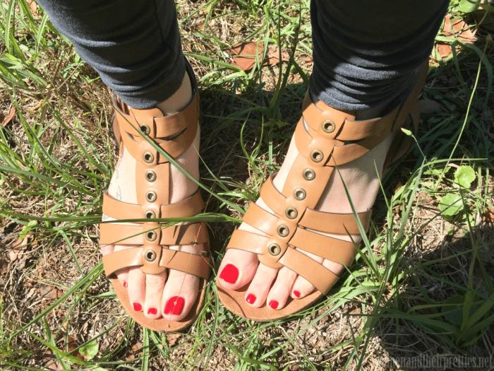 Women and Their Pretties in Rylan Cognac Sandals from BareTraps