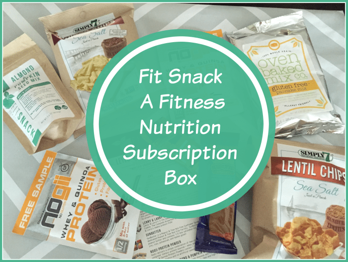 A Fitness Nutrition Subscription Box