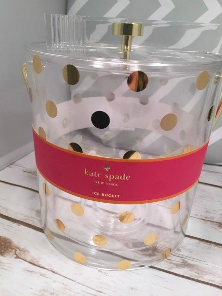Kate Spade Ice Bucket & Tongs