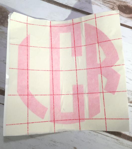 Monogram Circle Decal