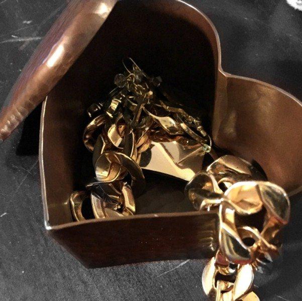 Native Trails Copper Heart Box