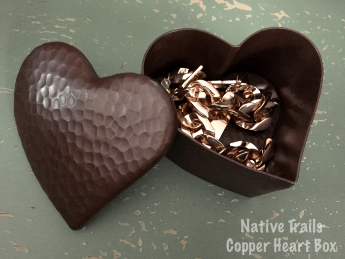 Native Trails Copper Heart Box