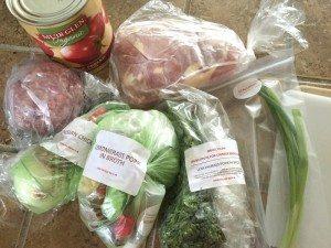 Plated Fresh Ingredients
