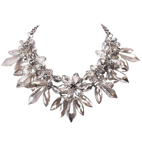 Chunky Crystal Bib Exaggerated Necklace