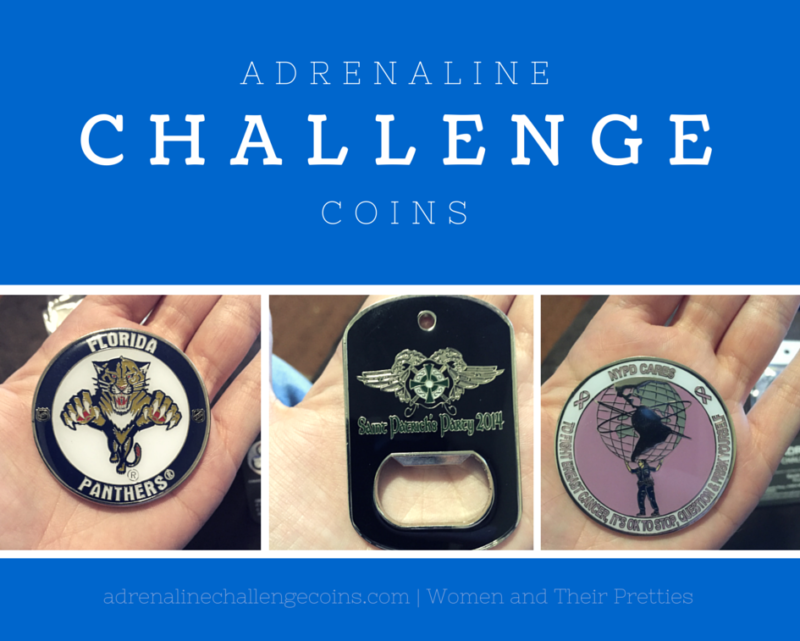 Adrenaline Challenge Coins -- Custom Coins
