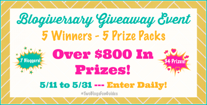 Blogiversary Giveaway Event