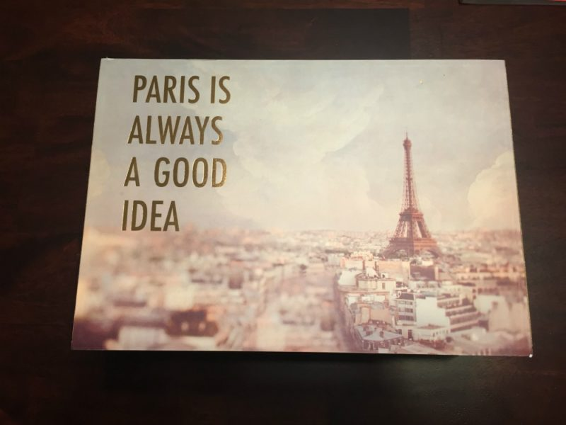 Paris is Always A Good Idea Jewelry Box