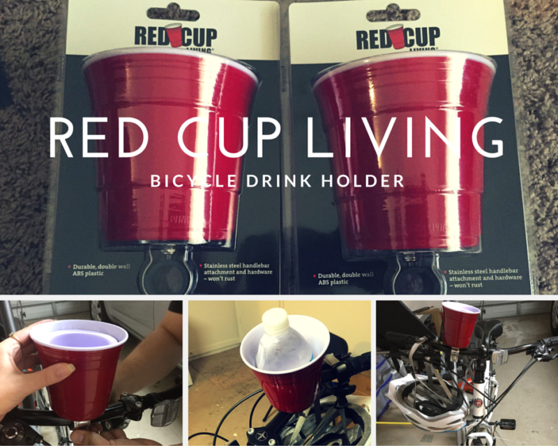 Red cup living bicycle drink holder