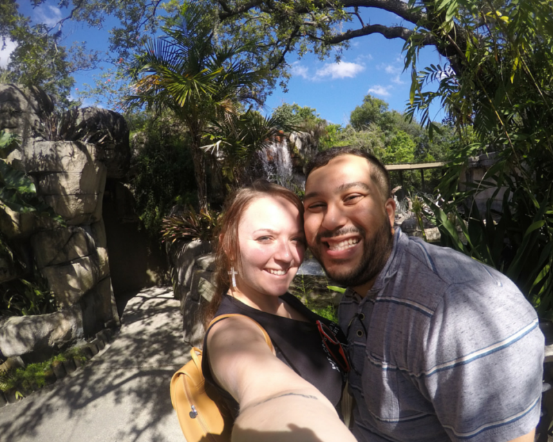 Us at Tampa's Lowry Park Zoo