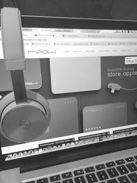 MiPow M3 Headphones on Computer - Wireless Headphones
