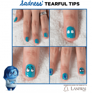Inside Out Nail Art Designs - Sadness