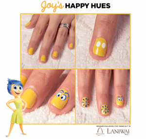 Inside Out Nail Art Designs - Joy