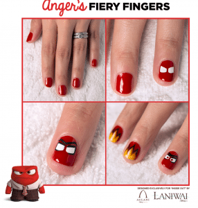 Inside Out Nail Art Designs - Anger