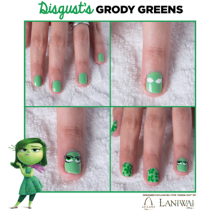 Inside Out Nail Art Designs - Disgust