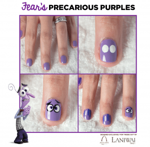 Inside Out Nail Art Designs - Fear
