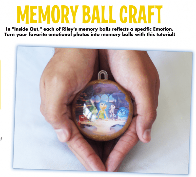 Inside Out Memory Ball Craft