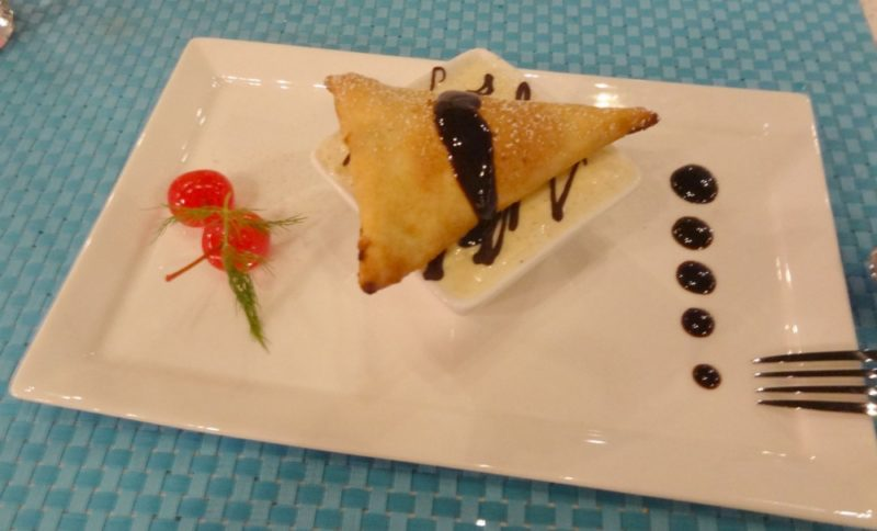 Tabla Restaurant in Orlando - Chocolate Samosa with Masala Chai Latte Ice cream