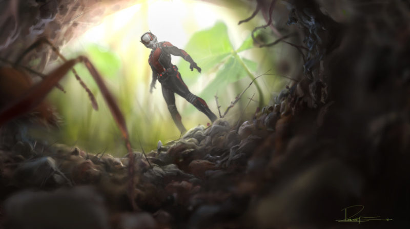 Marvel's Ant-Man..Conceptual Artwork of Scott Lang/Ant-Man..Artist: Rodney Fuentebella..? Marvel 2014
