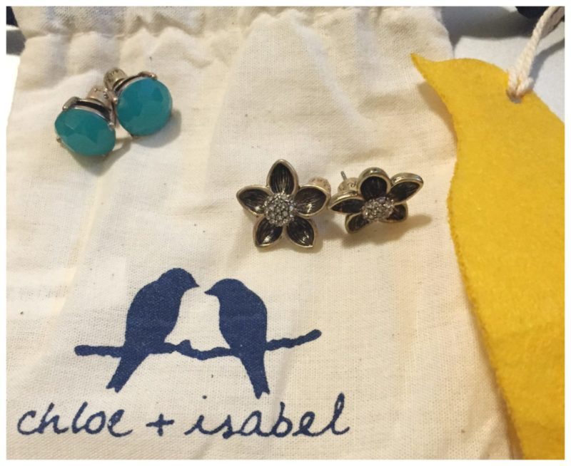 Chloe + Isabel November Rose Copacabana Floral Stud Duo Earrings