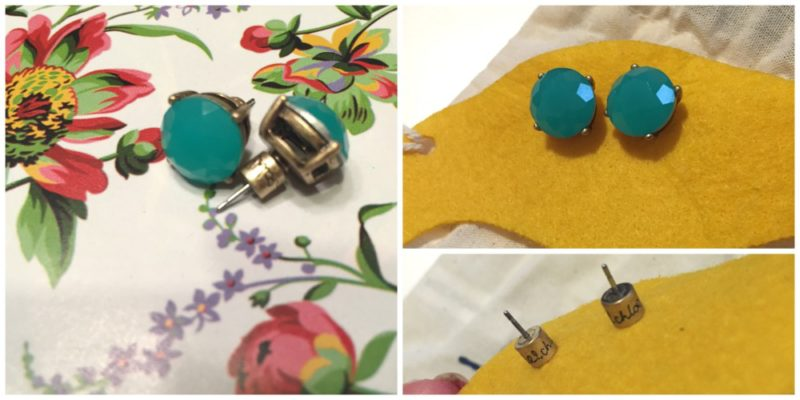 Chloe + Isabel November Rose Shop deep turquoise resin studs